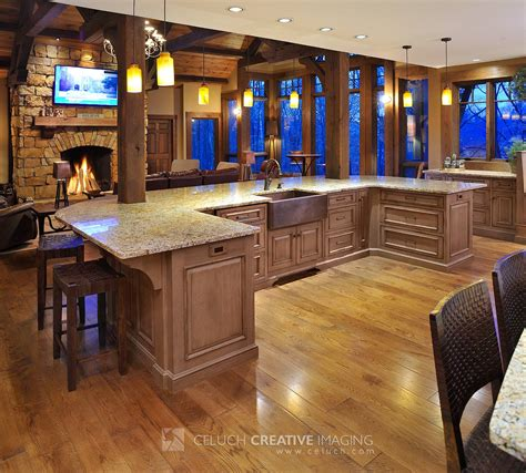 big kitchens with islands mullet cabinet large rustic timber frame kitchen with