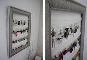 Fabriquer Un Porte Bijoux : diy faire un cadre porte bijoux blog envie bijoux ~ Melissatoandfro.com Idées de Décoration