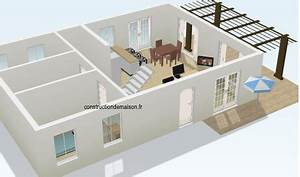 plans de maison 2 et 3d With construction de maison en 3d