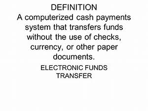definition a report of deposits withdrawals and bank With electronic documents definition