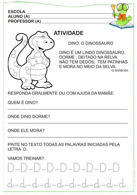 atividade letra d versinho ideia criativa gi carvalho educa 231 227 o infantil