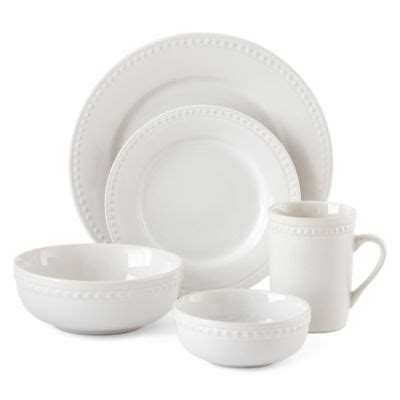jcpenney home bead  pc dinnerware set color bead