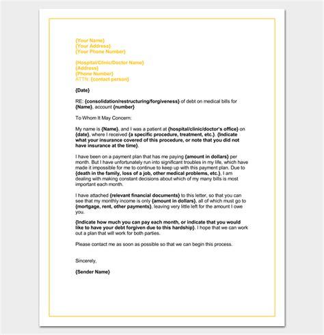 hardship letter template   word  format