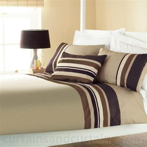 Chocolate Brown Duvet Covers by Yale Chocolate Brown Striped Print Duvet Cover Quilt