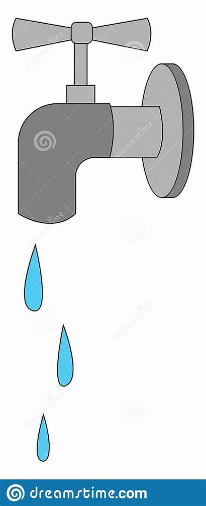 Water Tap Clipart Faucet Flowing Drawing