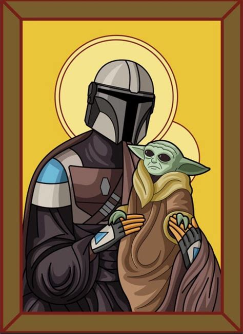 The Mandalorian and Baby Yoda as Mary and Holy Child in ...