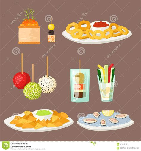 canapé banquette various fish cheese banquet snacks on banquet platter