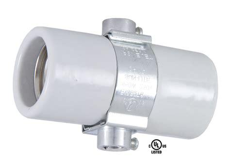 double bulb l socket twin medium porcelain socket with double strap 47708 b p