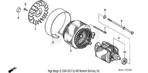 Generator Stator Wiring Diagram by Honda Eb6500sx A A Generator Jpn Vin Ezch 1050001 Parts