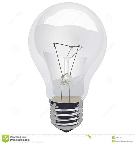 empty light bulb clear incandescent light bulb stock photo image 33881150