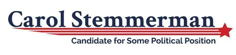 political logo template red stripes  star