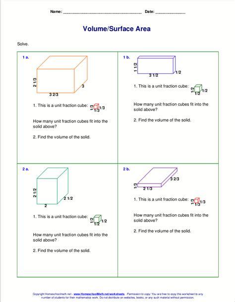volume word problems  grade worksheet worksheet