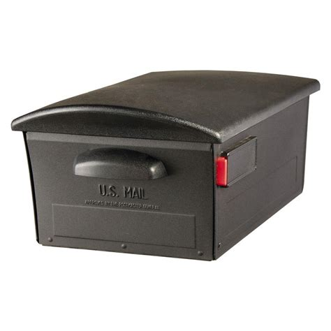 gibraltar mailboxes large lockable post mount mailbox