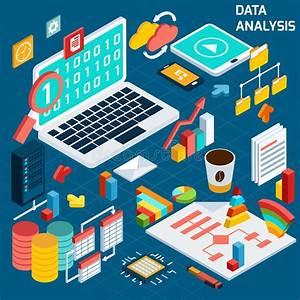 Data analysis isometric stock vector. Image of data ...