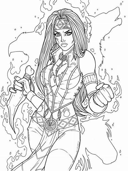 Coloring Pages Goth Deviantart Jamiefayx Commission Adult