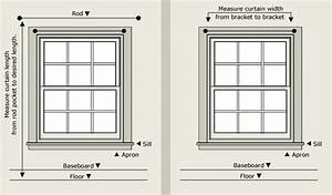 Standard Double Hung Window Size Chart Curtain And Valance Sizing What Size Curtain Do I Need To