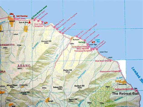 tulamben bali map  images  clkercom vector clip