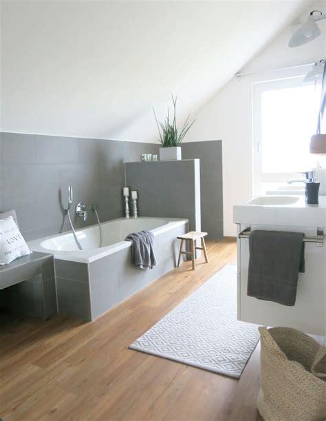 modernes badezimmer mit holz und beton badezimmer wohnen