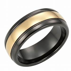 Black gold men39s wedding rings outstanding gold n black for Wedding gold rings for men