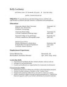 volunteer work ideas for resume resume volunteer manager