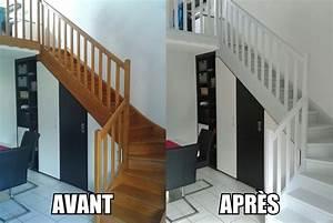 peindre un escalier en bois home escaliers pinterest With peindre des marches d escalier en bois 18 repeindre un escalier couleur bois vitrifie