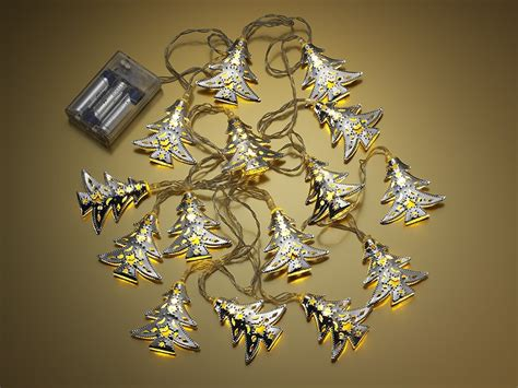 set of 15 battery operated christmas tree led string
