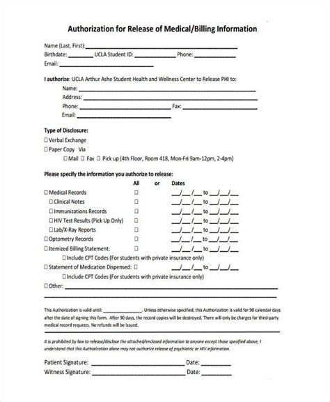 release of information form template 16 general release of information form templates
