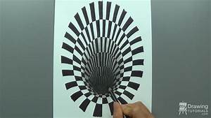 How To Draw A 3D Hole Optical Illusion | My Drawing Tutorials