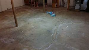 Waterproof basement with graniflex for Water coming up from basement floor