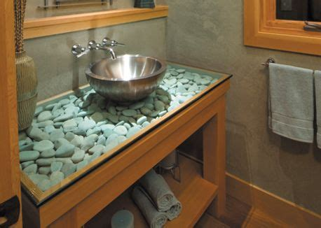 Bathroom Vanity Countertops Ideas by Countertop Idea Glass River Rocks There S No