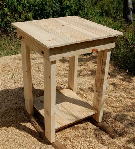 wood side table plans sanded pallet side table and nightstand pallet furniture