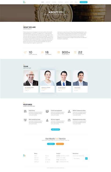About Us Page Template Consultancy Website Template Free Psd