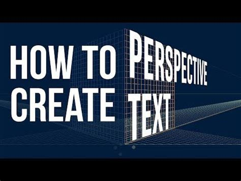 create perspective text  illustrator youtube