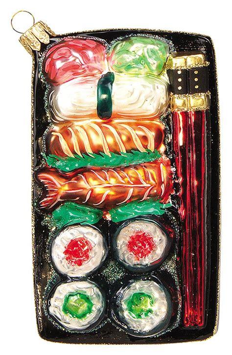 nordstrom  home sushi plate handblown glass ornament nordstrom
