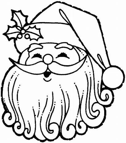 Coloring Christmas Santa Pages Decoration Claus Hat