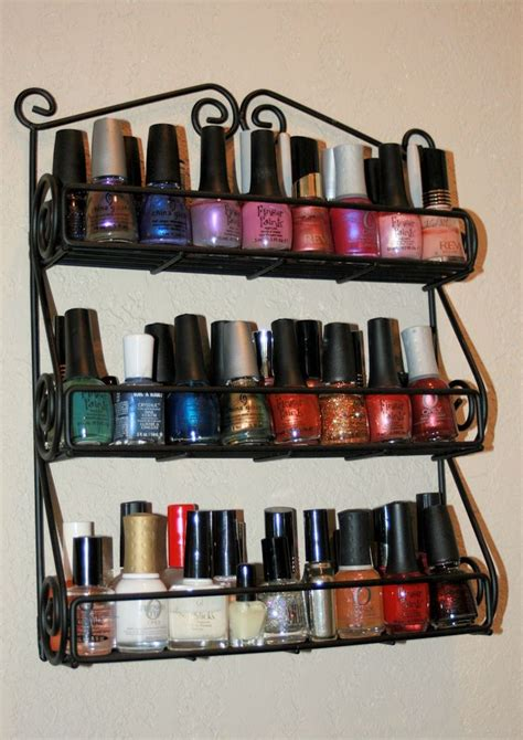 Spice Rack For Nail by Sweet Silly Organizing Storage Tips Ideas