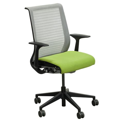 steelcase think used mesh back conference chair green