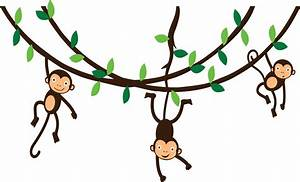 monkey hanging from tree clipart - Clipground