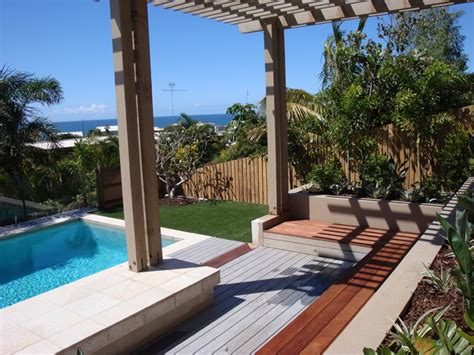 backyard makeover with pool backyard makeover contemporary pool sunshine coast by soul space