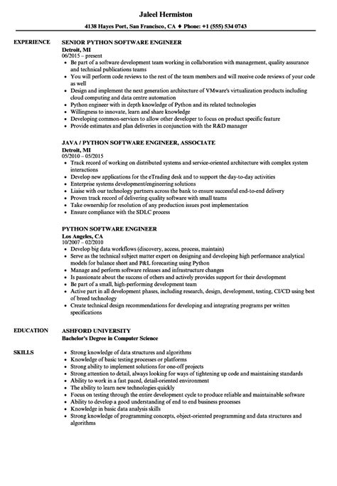 Midlevel Software Engineer Sample Resume Monster Com