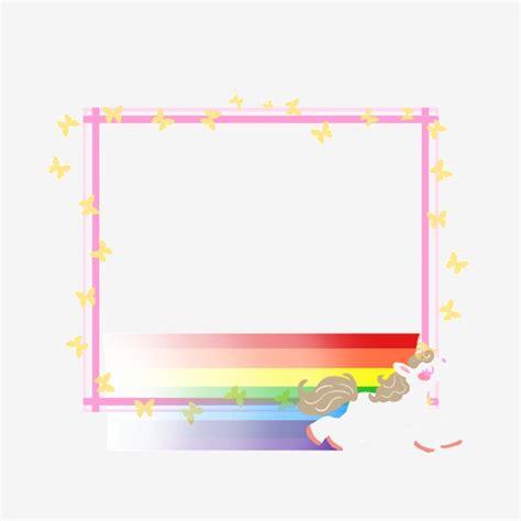 unicorn border png   cliparts  images