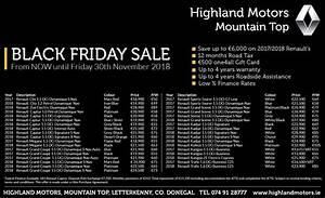 Renault Black Friday 2018 : black friday sale now on at highland motors 23rd 30th november 18 highland motors ~ Medecine-chirurgie-esthetiques.com Avis de Voitures