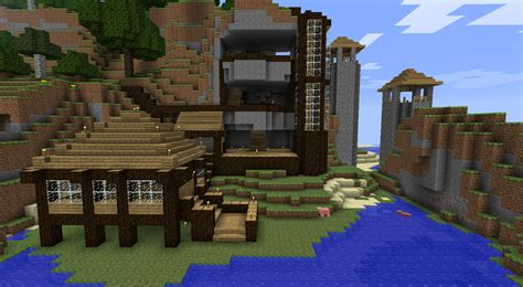 minecraft mountain house ideas epic minecraft house ideas cool small house treesranchcom