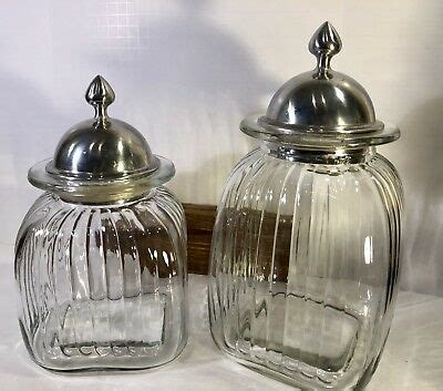 clear glass kitchen canisters glass apothecary jar clear canister vintage lid jars