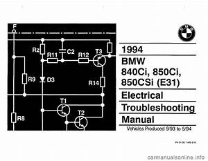 Bmw 840ci 1994 E31 Electrical Troubleshooting Manual In