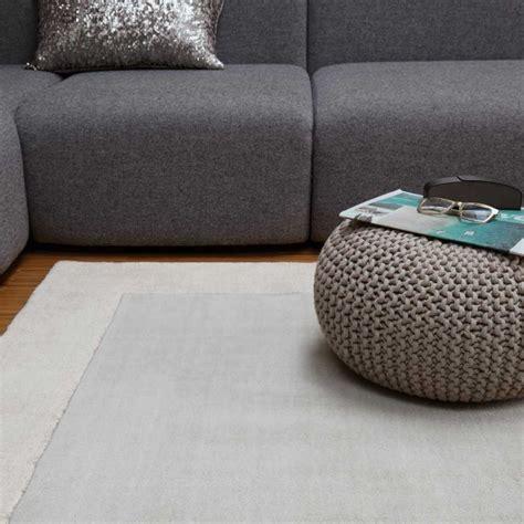 tapis de salon moderne gris en laine  viscose
