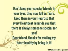 don 39 t keep your special friends friendship sms quotes image