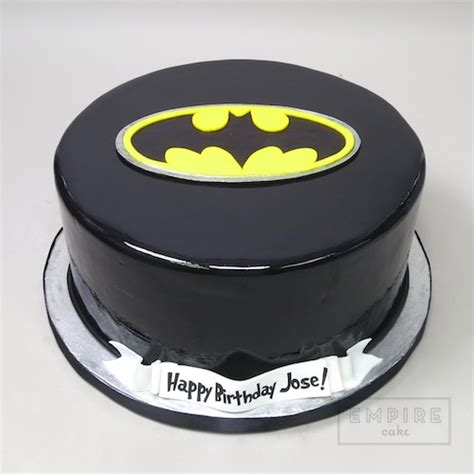 batman symbol fondant cake version empire cake
