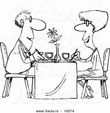 Restaurant Coloring Cartoon Couple Dining Vector Outlined Pages Colouring Sheets Customer Royalty Outline Resolution Graphic Toonaday Digitally Rendered Designed Vecto sketch template