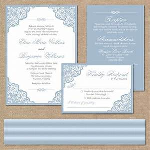 elegant lace wedding invitation suite square invitation With wedding invitation sample light blue
